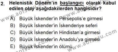 Kültürel Miras ve Turizm Bölümü 3. Yarıyıl Türkiye'nin Kültürel Mirası I Dersi 2016 Yılı Güz Dönemi Ara Sınavı 2. Soru