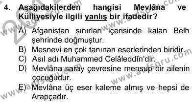 Kültürel Miras ve Turizm Bölümü 4. Yarıyıl Türkiye'nin Kültürel Mirası II Dersi 2013 Yılı Bahar Dönemi Ara Sınavı 4. Soru