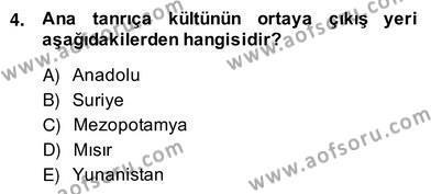 Kültürel Miras ve Turizm Bölümü 4. Yarıyıl Türkiye'nin Kültürel Mirası II Dersi 2014 Yılı Bahar Dönemi Ara Sınavı 4. Soru