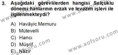 Kültürel Miras ve Turizm Bölümü 4. Yarıyıl Türkiye'nin Kültürel Mirası II Dersi 2015 Yılı Bahar Dönemi Dönem Sonu Sınavı 3. Soru