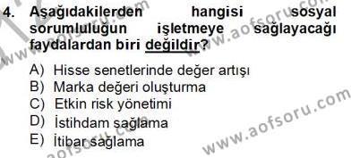 Konaklama İşletmeciliği Bölümü 4. Yarıyıl Otel Yönetimi Dersi 2013 Yılı Bahar Dönemi Dönem Sonu Sınavı 4. Soru