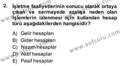 Otel Yönetimi Dersi 2013 - 2014 Yılı Ara Sınavı 2. Soru