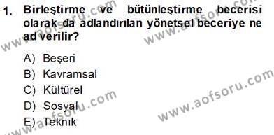 Otel Yönetimi Dersi 2013 - 2014 Yılı Dönem Sonu Sınavı 1. Soru