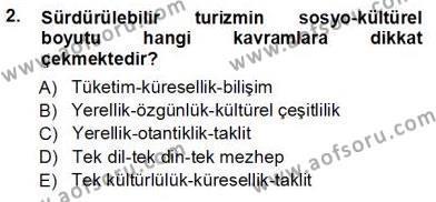 Turistik Alanlarda Mekan Tasarımı Dersi 2012 - 2013 Yılı Ara Sınavı 2. Soru