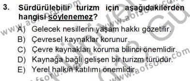 Turistik Alanlarda Mekan Tasarımı Dersi 2012 - 2013 Yılı Ara Sınavı 3. Soru