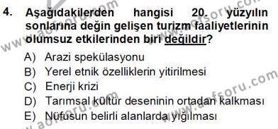 Turistik Alanlarda Mekan Tasarımı Dersi 2012 - 2013 Yılı Ara Sınavı 4. Soru
