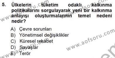 Konaklama İşletmeciliği Bölümü 5. Yarıyıl Turistik Alanlarda Mekan Tasarımı Dersi 2013 Yılı Güz Dönemi Ara Sınavı 5. Soru