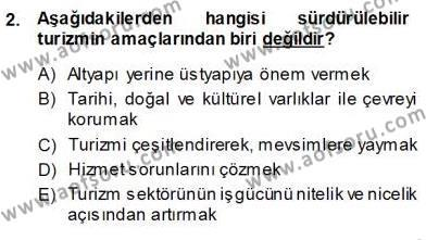 Turistik Alanlarda Mekan Tasarımı Dersi 2013 - 2014 Yılı Ara Sınavı 2. Soru