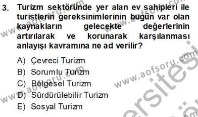 Turistik Alanlarda Mekan Tasarımı Dersi 2013 - 2014 Yılı Ara Sınavı 3. Soru