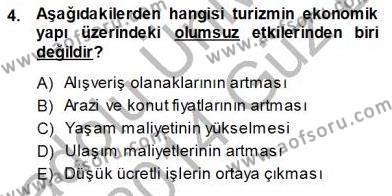 Turistik Alanlarda Mekan Tasarımı Dersi 2013 - 2014 Yılı Ara Sınavı 4. Soru