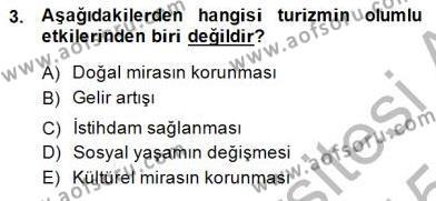 Turistik Alanlarda Mekan Tasarımı Dersi 2014 - 2015 Yılı Ara Sınavı 3. Soru