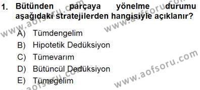Turistik Alanlarda Mekan Tasarımı Dersi 2015 - 2016 Yılı (Vize) Ara Sınav Soruları 1. Soru