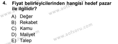 Odalar Bölümü Yönetimi Dersi 2012 - 2013 Yılı Dönem Sonu Sınavı 4. Soru