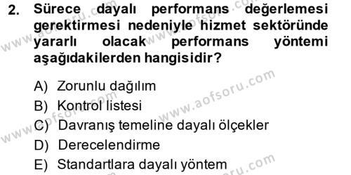 Performans ve Kariyer Yönetimi Dersi 2014 - 2015 Yılı Dönem Sonu Sınavı 2. Soru