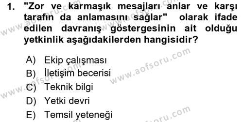 Performans ve Kariyer Yönetimi Dersi 2015 - 2016 Yılı Ara Sınavı 1. Soru