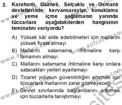 Yiyecek ve İçecek Yönetimi Dersi 2013 - 2014 Yılı Ara Sınavı 2. Soru