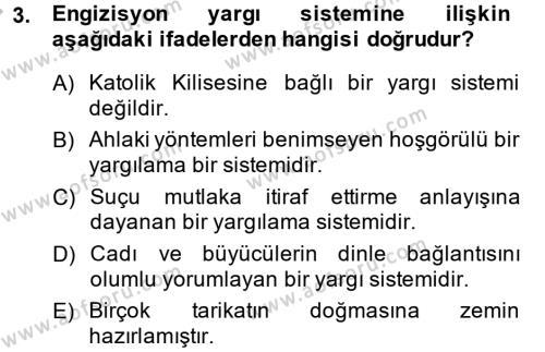 Kültür Tarihi Dersi 2013 - 2014 Yılı Dönem Sonu Sınavı 3. Soru