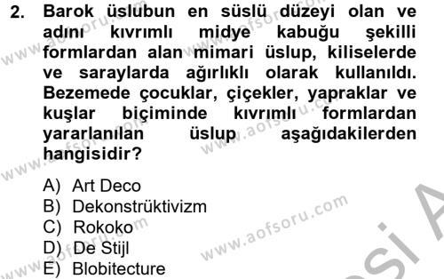 Görsel Kültür Dersi 2012 - 2013 Yılı Ara Sınavı 2. Soru