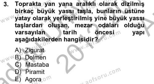 Görsel Kültür Dersi 2012 - 2013 Yılı Ara Sınavı 3. Soru