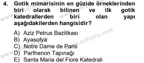 Görsel Kültür Dersi 2012 - 2013 Yılı Ara Sınavı 4. Soru