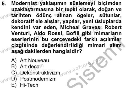 Coğrafi Bilgi Sistemleri ve Teknolojileri Bölümü 0. Yarıyıl Görsel Kültür Dersi 2013 Yılı Ara Sınavı 5. Soru