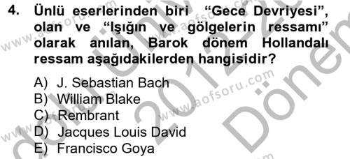 Görsel Kültür Dersi 2012 - 2013 Yılı Dönem Sonu Sınavı 4. Soru