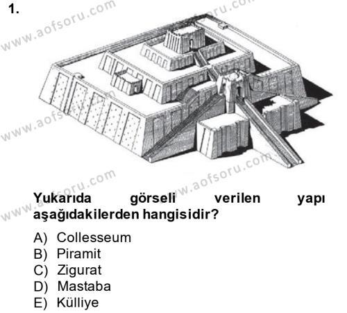Görsel Kültür Dersi 2013 - 2014 Yılı Ara Sınavı 1. Soru