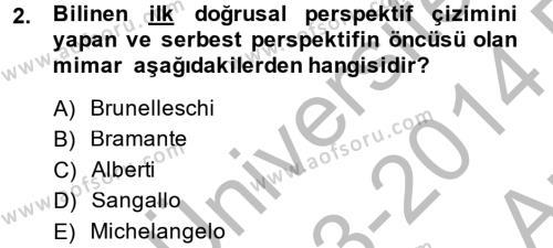 Görsel Kültür Dersi 2013 - 2014 Yılı Ara Sınavı 2. Soru