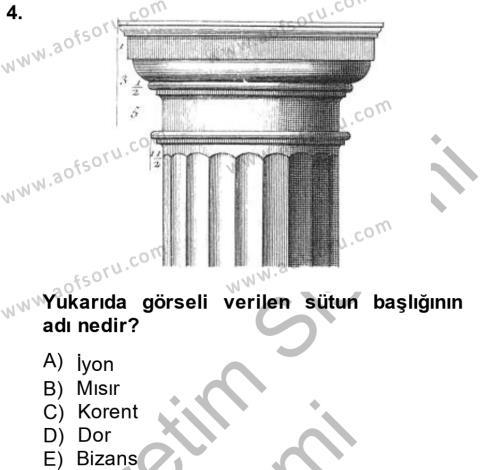 Görsel Kültür Dersi 2013 - 2014 Yılı Ara Sınavı 4. Soru