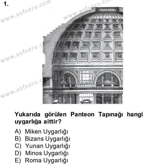 Görsel Kültür Dersi 2013 - 2014 Yılı Dönem Sonu Sınavı 1. Soru