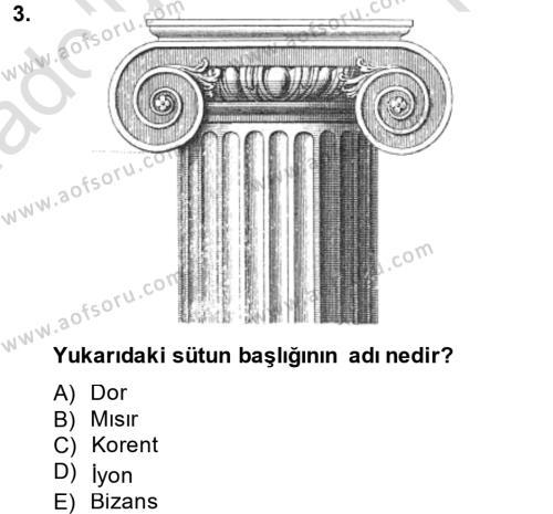 Görsel Kültür Dersi 2013 - 2014 Yılı Tek Ders Sınavı 3. Soru