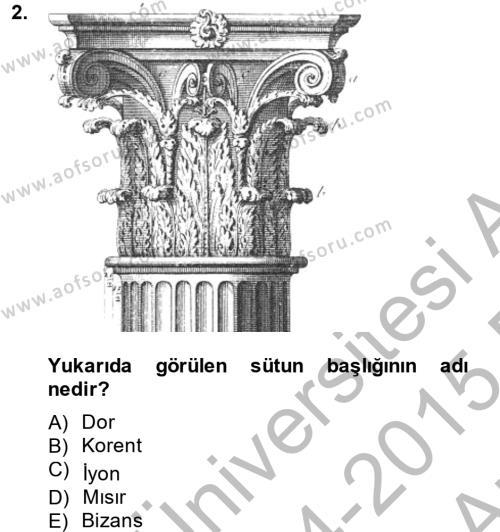 Halkla İlişkiler ve Reklamcılık Bölümü 4. Yarıyıl Görsel Kültür Dersi 2015 Yılı Bahar Dönemi Ara Sınavı 2. Soru