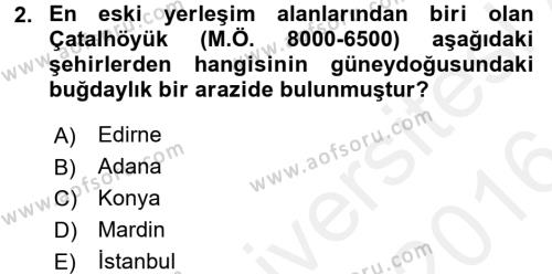 Coğrafi Bilgi Sistemleri ve Teknolojileri Bölümü 0. Yarıyıl Görsel Kültür Dersi 2016 Yılı Ara Sınavı 2. Soru