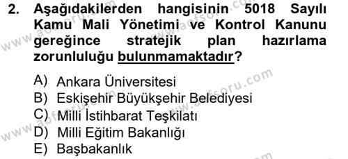 Yönetim Bilimi 2 Dersi 2013 - 2014 Yılı Tek Ders Sınavı 2. Soru