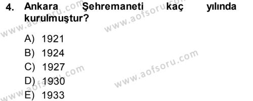 Kentleşme ve Konut Politikaları Dersi 2013 - 2014 Yılı (Final) Dönem Sonu Sınav Soruları 4. Soru