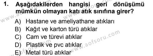 Kamu Yönetimi Bölümü 7. Yarıyıl Çevre Sorunları ve Politikaları Dersi 2013 Yılı Güz Dönemi Ara Sınavı 1. Soru
