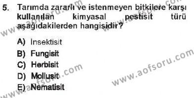 Kamu Yönetimi Bölümü 7. Yarıyıl Çevre Sorunları ve Politikaları Dersi 2013 Yılı Güz Dönemi Tek Ders Sınavı 5. Soru