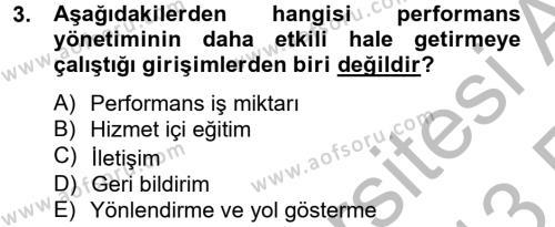 Kamu Yönetiminde Çağdaş Yaklaşımlar Dersi 2012 - 2013 Yılı (Vize) Ara Sınav Soruları 3. Soru