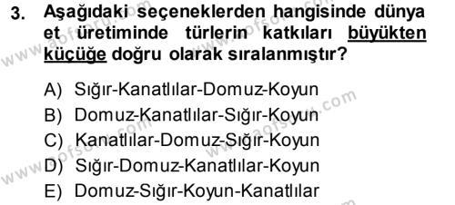 Temel Zootekni Dersi 2013 - 2014 Yılı (Vize) Ara Sınav Soruları 3. Soru