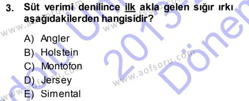 Temel Zootekni Dersi 2013 - 2014 Yılı (Final) Dönem Sonu Sınav Soruları 3. Soru