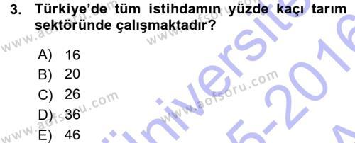 Temel Zootekni Dersi 2015 - 2016 Yılı (Vize) Ara Sınav Soruları 3. Soru