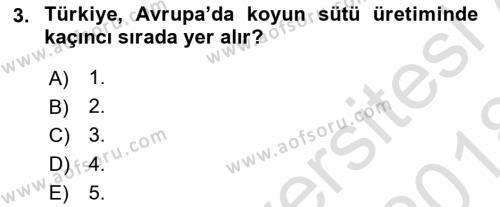Temel Zootekni Dersi 2017 - 2018 Yılı (Vize) Ara Sınav Soruları 3. Soru