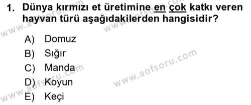 Temel Zootekni Dersi 2017 - 2018 Yılı (Final) Dönem Sonu Sınav Soruları 1. Soru