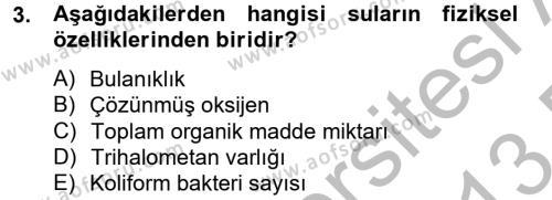 Hijyen ve Sanitasyon Dersi 2012 - 2013 Yılı (Final) Dönem Sonu Sınav Soruları 3. Soru