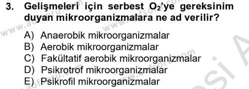 Hijyen ve Sanitasyon Dersi 2013 - 2014 Yılı Tek Ders Sınav Soruları 3. Soru