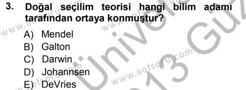 Temel Veteriner Genetik Dersi 2012 - 2013 Yılı (Vize) Ara Sınav Soruları 3. Soru