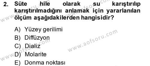 Temel Veteriner Biyokimya Dersi 2013 - 2014 Yılı (Vize) Ara Sınav Soruları 2. Soru