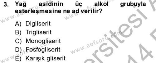 Temel Veteriner Biyokimya Dersi 2013 - 2014 Yılı (Vize) Ara Sınav Soruları 3. Soru