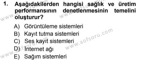 Temel Sürü Sağlığı Yönetimi Dersi 2012 - 2013 Yılı Ara Sınavı 1. Soru
