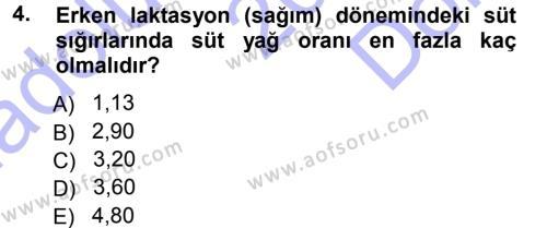 Temel Sürü Sağlığı Yönetimi Dersi 2012 - 2013 Yılı (Final) Dönem Sonu Sınavı 4. Soru